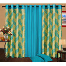 Cortina Candy Set Of 3- 7Ft Curtain,  sky blue