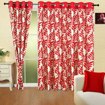 Cortina Exotic 7Ft Curtain,  red
