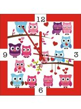 Height Of Designs Trendy Owls Wall Clock, multicolor