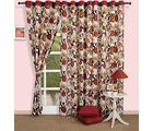 Bright floral curtain (Multicolor, Curtain(54 inch x 60 inch))
