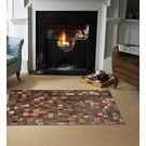 SWHF Large Leather Rug Patch Work,  brown