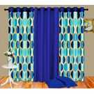 Cortina Punto Set Of 3- 9Ft Curtain,  sky blue