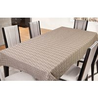 Freely Coffee Cotton Table Cover For 8 Seaters, multicolor