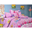 Pompe Kids Gang Single Bedsheet - Funny fonu - K007, multicolor