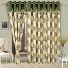 Cortina Fancy Precious 401 5Ft Curtain,  green