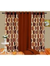 Cortina Punto Set Of 3- 7Ft Curtain, coffee