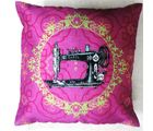 Welhouse India Carol Sewing Machine 3D Cushion Cover, multicolor
