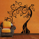 Creative Width Whimsical Tree Wall Decal, multicolor, small