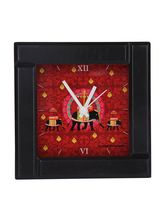 The Elephant Company Red Elephant Butti Alarm Clock, red