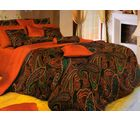 Welhouse India Polycotton Traditional Design 4pcs Bedding Set, maroon