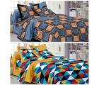 Story At Home Set of 2 Pure Cotton Double Bedsheet With 4 Pillow Cover, multicolor