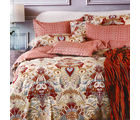 Aapno Rajasthan Soothing Cotton Double Bedsheet with Floral Print, multicolor