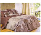 welhouse india Cotton Abstract Design Double BedSheet With 2 Pillow Cover, beige