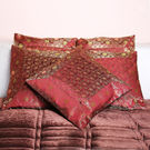 Rivayat Banarasi Hand Made Silk King Size Cushion Cover (set of 5),  maroon