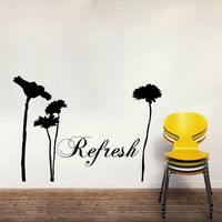 Creative Width Refresh Wall Decal, multicolor, small