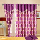 Cortina Round Drape 7Ft Curtain,  purple