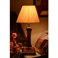 Yashasvi Wooden Table Lamp With Cream Shade,  cream
