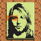 Engrave Kurt Cobain Canvas, multicolor