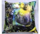 Welhouse India Saint Budha Design 3D Cushion Covers, multicolor