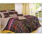 welhouse india Cotton Graphic Design Double BedSheet With 2 Pillow Cover, multicolor