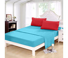 Story At Home 152 TC Pure Cotton Double Bedsheet With 2 Pillow Cover, blue