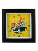The Elephant Company Cool Cab Designer Wall Clock, multicolor