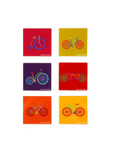 The Elephant Company Joyride Tweet Acrylic Coasters Set of 6, multicolor