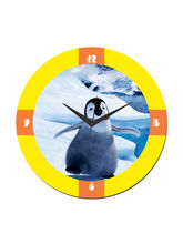 meSleep Penguin Wall Clock, multicolor