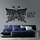 Creative Width Loud As Music Wall Decal, multicolor, medium