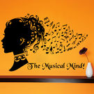 Creative Width The Musical Mind Wall Decal, multicolor, large