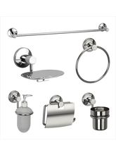 Jwell Stainless Steel Bath Set Combo 2 - Sigma Series, multicolor