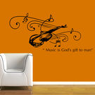 Creative Width Music Is Gift Wall Decal, multicolor, medium