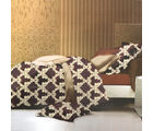 Aapno Rajasthan ElegantCream Polyester Double Bedsheet with Royal print, multicolor