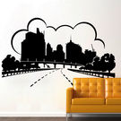 Creative Width Urban City Wall Decal, multicolor, small