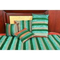 Banana Prints Set of Five Street Bed Cover - BC_ 3011, multicolor