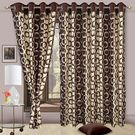 Cortina Precious Patch 404 7Ft Curtain,  coffee