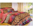 welhouse india Cotton Abstract Design Double BedSheet With 2 Pillow Cover, multicolor