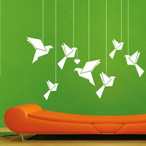 Creative Width Hanging Birds Wall Decal, multicolor, large