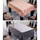Freely Cotton Table Cover With Transprant Table Cover For 8 Seaters ( Buy 1 Get 1), multicolor