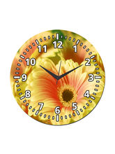 meSleep Flower Wall Clock, multicolor