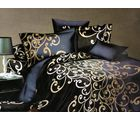 Welhouse India Polycotton Paisley Design 4pcs Bedding Set, black
