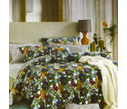 Aapno Rajasthan Cotton Double Bedsheet with Colorful Floral Print, multicolor