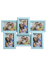 Beautiful Blue Collage Photoframe to Lock moments, blue