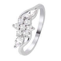 Simaya brings CZ Designer Rhodium Plated Ring (FR 0070)