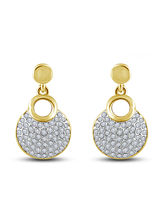 Shriya Elegant Austrian Diamond Gold Plated Earring Set