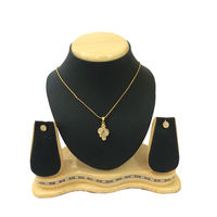 Shriya Pretty Gold Plated Austrian Diamond Pendant Set With Chain