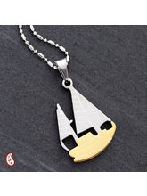 Alloy Steel Cz Boat Necklace