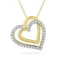 Ishis 18K Gold and Diamond Heart Pendant-6892, white gold