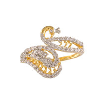 Shriya Austrian Diamond Gold Plated Designer Ring