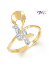 Sukkhi Beguilling Classy Gold and Rhodium Plated CZ Ring, 11